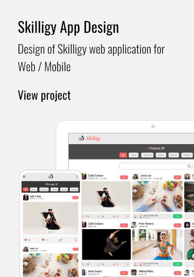 Skilligy App Design